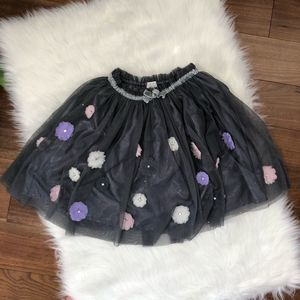 Children's Place | Grey Tulle Skirt Flowers 7/8